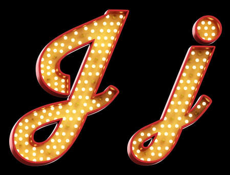 J j sign light font Stock fotó