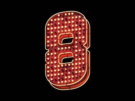 Casino light sign font.