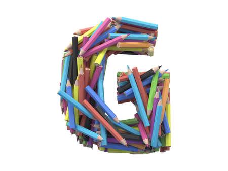 Color pencil G font.