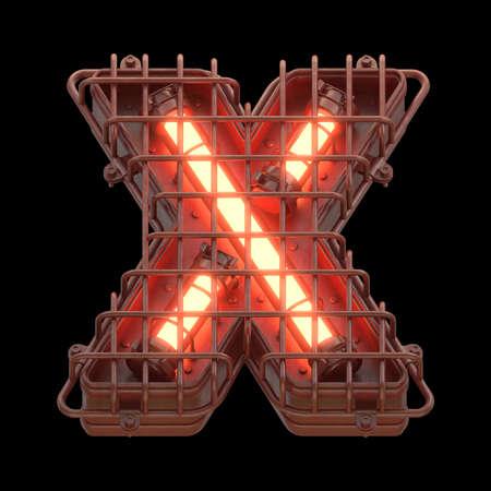 Alarm light X font. Imagens