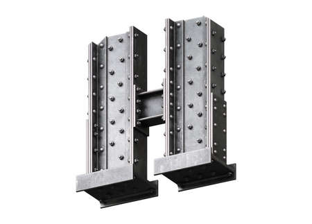 Steel construction font.