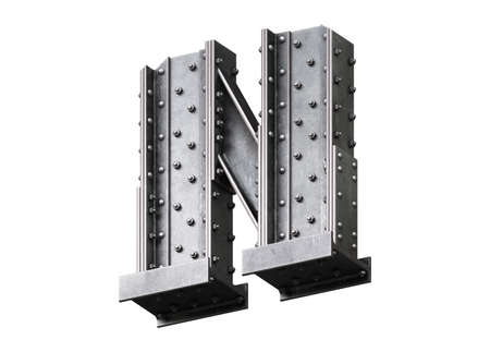 Steel construction font. 스톡 콘텐츠