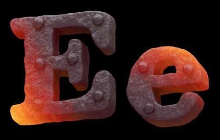 Forge hot metal font rivet