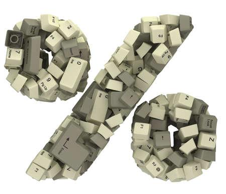 White PC keyboard button font.