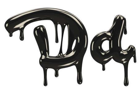 Petroleum letter font. Stock Photo