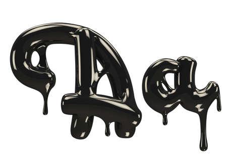 black Petroleum font.