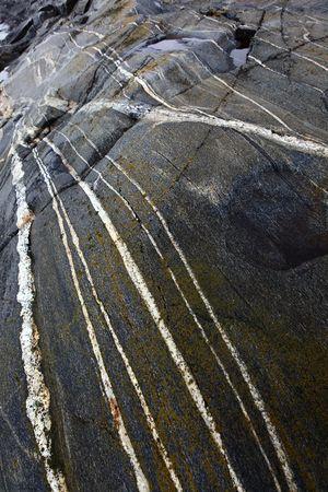 eiszeit: Einige gestreift Felsformationen, die durch die Eiszeit gebildet.