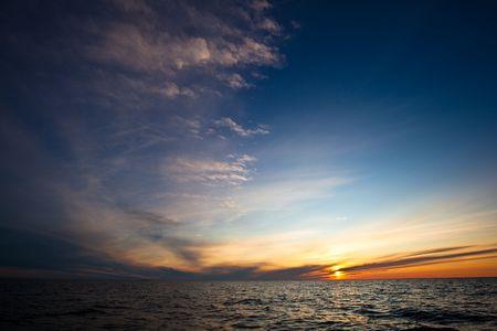 phenomena: Colour phenomena in the sky during sundown. Stock Photo