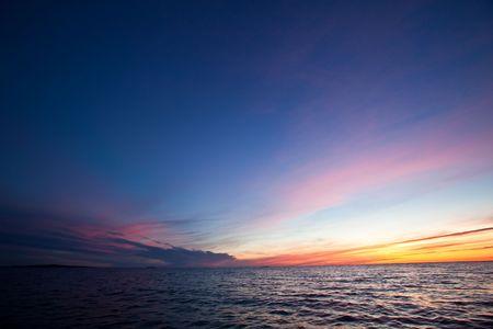 phenomena: Colour phenomena in the sky just after sundown.