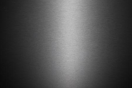 acier bross�?: Une texture du fond de l'image d'une feuille de m�tal bross�. Banque d'images