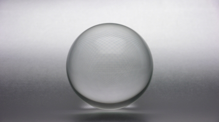 Crystal ball on textured background