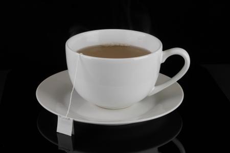 Tea on black background