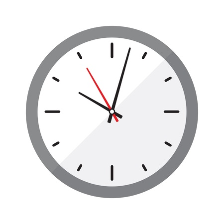 A simple, clean wall clock in a flat or metro graphical style   Stock Vector - 22175713