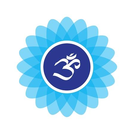 divinit�: Le symbole compos�e sur un fleur de lotus recommand�e impression d'utilisation comme un autocollant, ajouter � votre site web, ou m�me faire un patch pour votre tapis de yoga sac Parole de yo Mataji