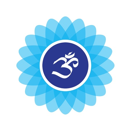 The symbol composited on a lotus flower  Recommended usage  print as a sticker, add to your website, or even make it a patch for your yoga mat bag  Word to yo  Mataji  Vector