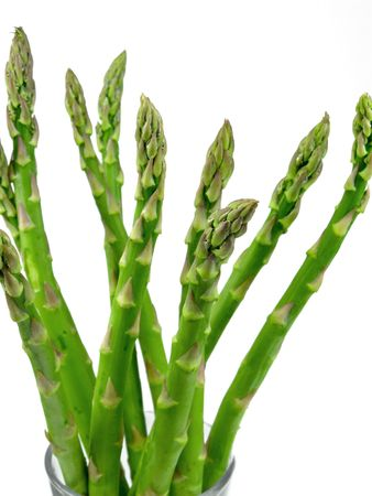 Asparagus bunch against a white background Stock Photo