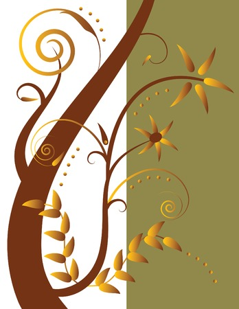 Abstract floral illustration. Stock Vector - 2823662