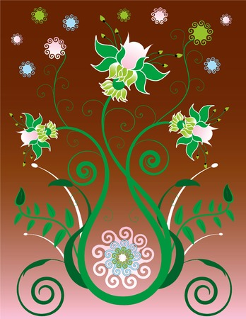 Decorative Floral Background Stock Vector - 2910049