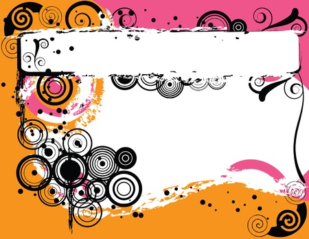enlarged: A grunge styled background created in Illustrator.  Vector image can be enlarged to any size. Illustration