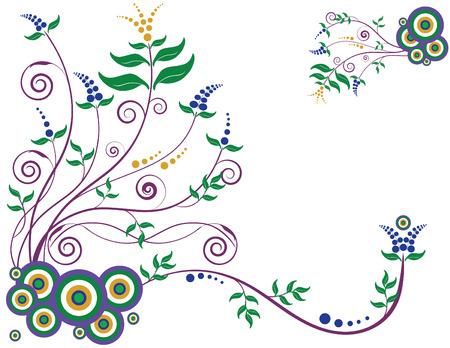 enlarged: Decorativi floreali sfondo progettati in Illustrator. Formato vettoriale pu� essere allargata a qualsiasi dimensione.  Vettoriali