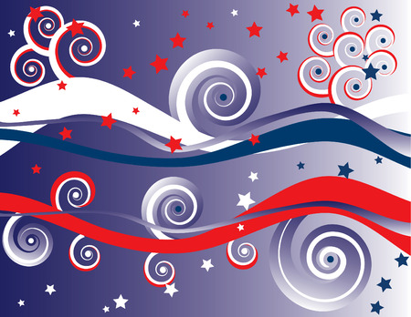 4th of July Abstract Background Vector