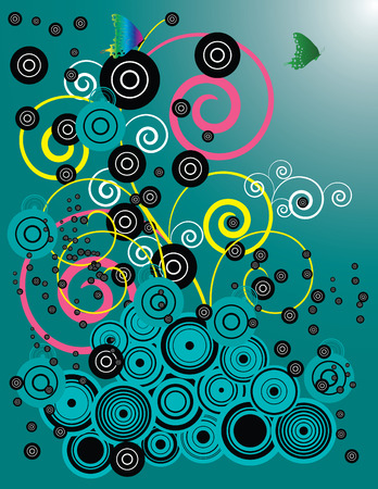 Abstract background designed in Illustrator.  Vector format can be enlarged to any size. Stock Vector - 3173598