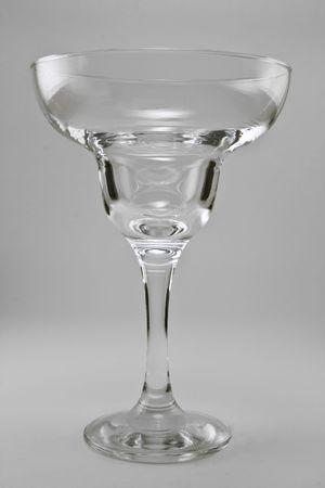 margarita glass: Margarita glass against a white background. Stock Photo