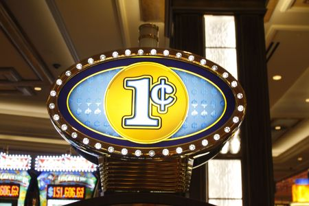Penny Slot Machine marquee at a Las Vegas Casino.