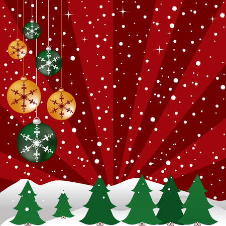 Christmas background designed in Illustrator vector format.  Can be scaled to any sized without lost of quality.  Çizim