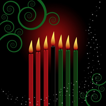 kwanzaa: Christmas background designed in Illustrator vector format.