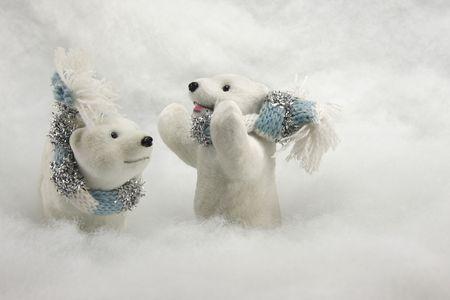 Los osos polares de Navidad de fondo Foto de archivo - 3704850