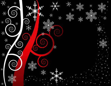 Christmas background designed in Illustrator vector format.  Can be scaled to any sized without lost of quality.  Illustration