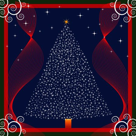 Christmas background designed in Illustrator vector format.