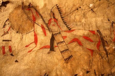 Native American Tipi Scene