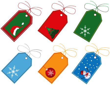 holiday: Christmas Gift Tags Illustration