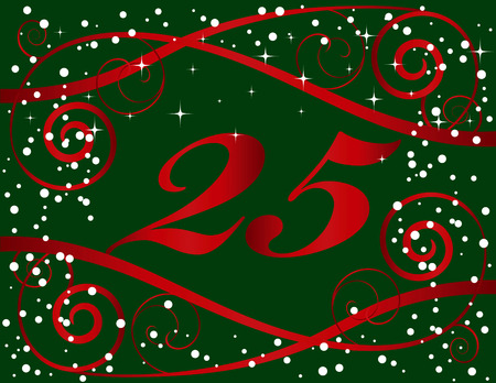 25th: Christmas 25th Background