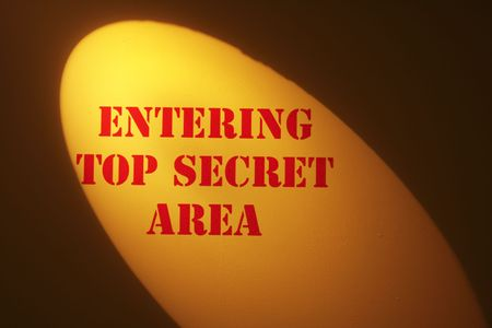 top: Top Secret Warning