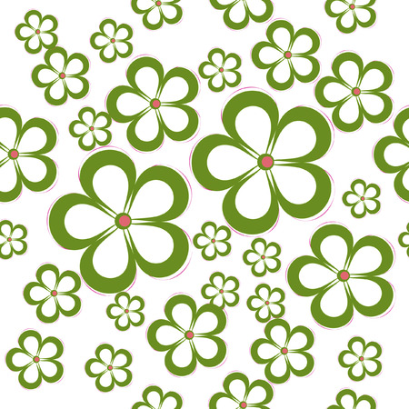 vector flowers: Daisy Floral Seamless Pattern