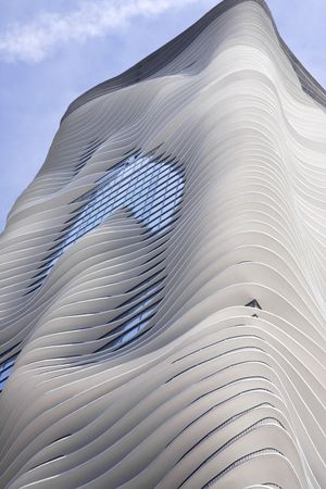 Modern High-rise Apartment Building in Chicago