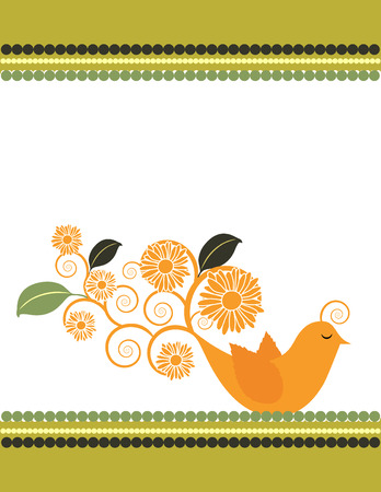 Sunflower Bird Stock Vector - 5112957