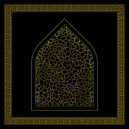 ornement hamam turc noir et or Vecteurs