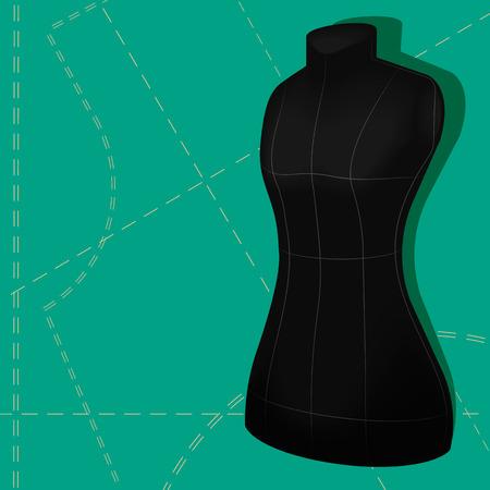 dummy: Dark colored tailors dummy