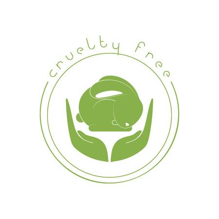 cruelty: Animal cruelty free logo. Not tested on animals symbol Illustration