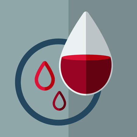 Anemia. Drop of blood Illustration