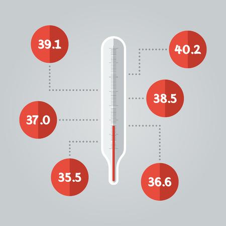 Thermometer icon. Temperature Illustration