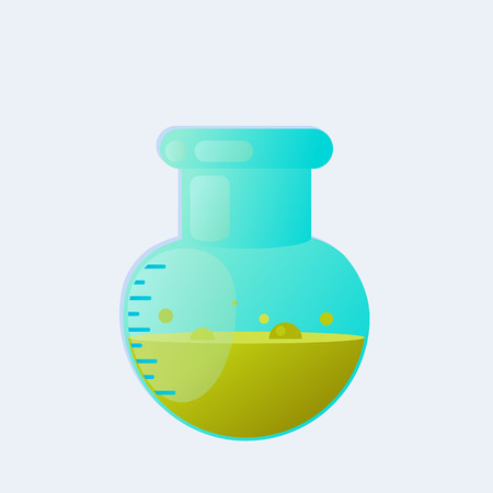 poison bottle: Chemical laboratory test-tube with liquid