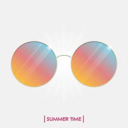 Colorful summer sunglasses Illustration