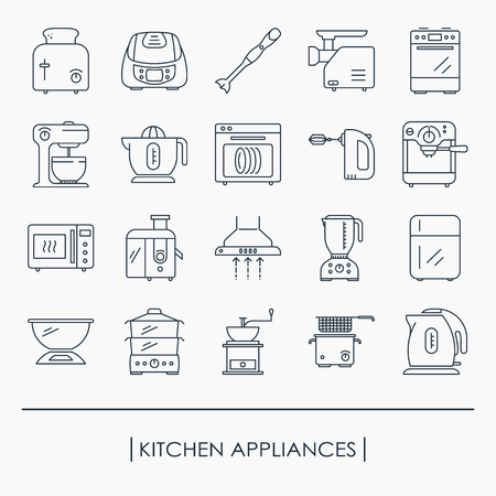 Collection of kitchen appliances icons Иллюстрация