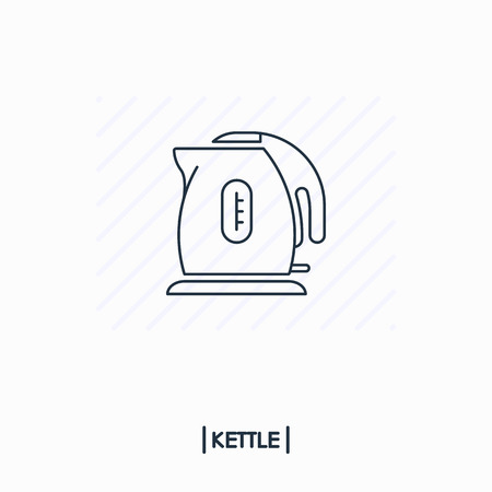 Kettle outline icon isolated Иллюстрация