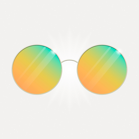 Colorful summer sunglasses Vector illustration. Иллюстрация
